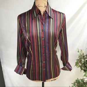 Talbots Silk/Spandex Long-Sleeved Blouse